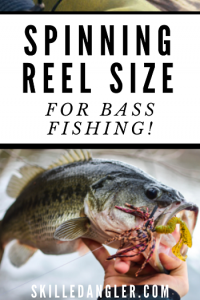 what spinning reel size to use for bass fishing