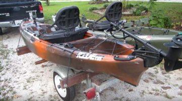 trolling motor on kayak