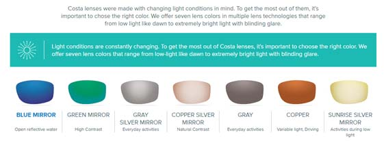 costa lenses
